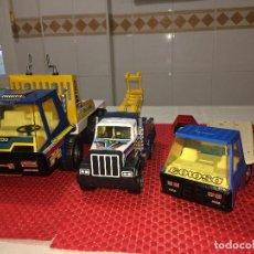Brinquedos antigos Gozán: LOTE DE 3 VEHÍCULOS INDUSTRIALES GOZAN - IBI ( ALICANTE ) - ALGUNA FALTA. Lote 282060628