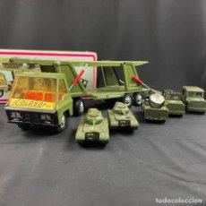 Brinquedos antigos Gozán: COLOSO-CAMION MILITAR-TRAILER-JUGUETES GOZAN-AÑOS 70. Lote 283093753
