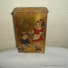 Juguetes antiguos de hojalata: ANTIGUA HUCHA DE RICO,AÑOS 30 Ó 40. Lote 21827468