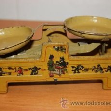 Juguetes antiguos de hojalata: RICO BALANZA FELIX EL GATO AÑOS 30. Lote 29922116