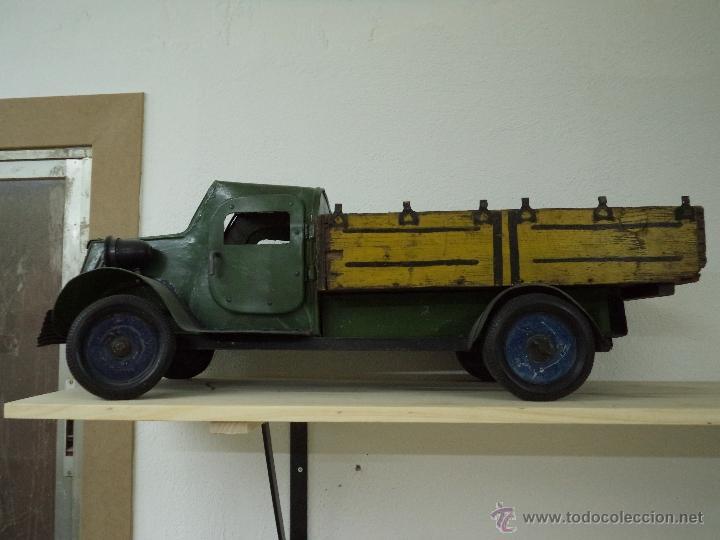 Camion de metal y madera comprar juguetes antiguos de - Juguetes antiguos de madera ...