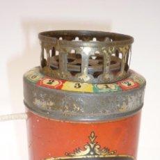 Juguetes antiguos de hojalata: ANTIGUA BARQUILLERA DE HOJALATA LITOGRAFIADA. PUB. GALLETAS SOLSONA. JUGUETE ORIGINAL. 1930S. Lote 49545101