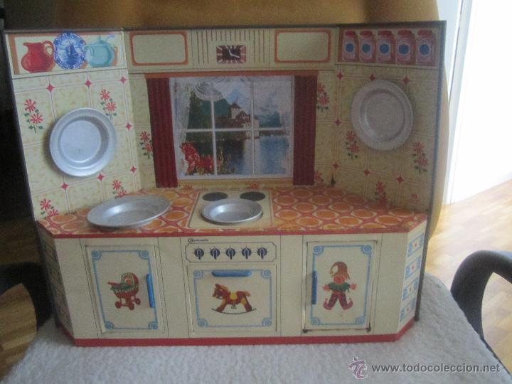Antigua cocina juguete de lata a os 50 mide 40 comprar - Cocinas anos 50 ...