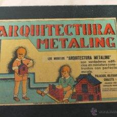 Juguetes antiguos de hojalata: ARQUITECTURA METALING Nº 1 ORIGINAL AÑOS 30 PIEZAS DE HOJADELATA. Lote 50432856