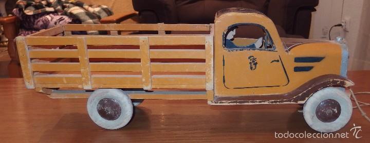 Camioneta de madera juguete de denia a os 30 comprar - Juguetes antiguos de madera ...