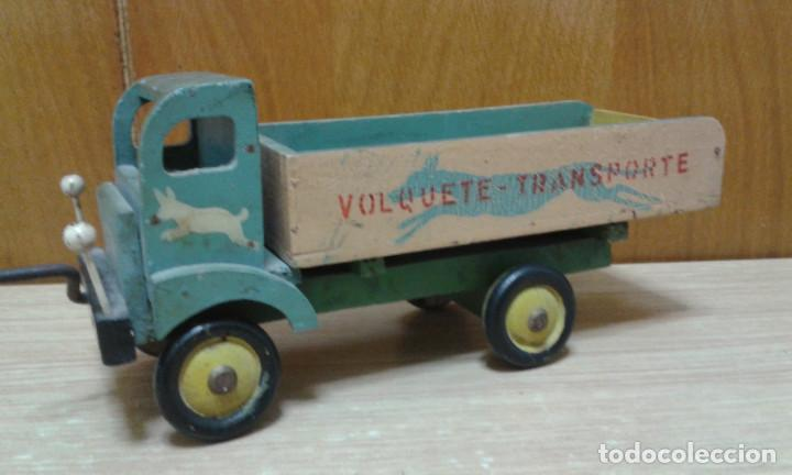 Cami n de madera volquete transporte produ comprar - Juguetes antiguos de madera ...
