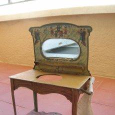 Juguetes antiguos de hojalata: TOCADOR O MUEBLE LAVABO DE HOJALATA CON ESPEJO. AÑOS 30/40. ORIGINAL.. Lote 80572970