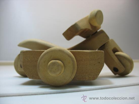 Bicicleta y sidecar de madera hecho a mano comprar - Juguetes antiguos de madera ...