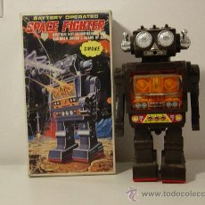 Juguetes antiguos de hojalata: ROBOTS-ROBOT JAPONES SPACE FIGHTER HORIKAWA. Lote 29101991