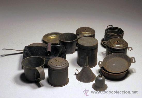 Lote de antiguos cacharros de cocina de juguete comprar for Cacharros de cocina