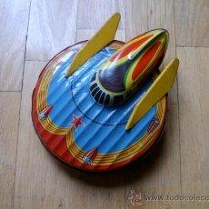Juguetes antiguos de hojalata: NAVE ESPACIAL TERRE MARS SFA PARIS - HOJALATA - JUGUETE ANTIGUO - COLECCIONISMO. Lote 34228161