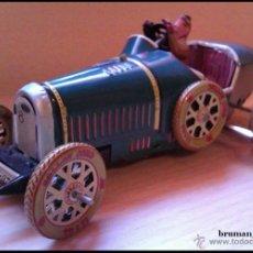 Juguetes antiguos de hojalata: COCHE CAR TIN VINTAGE HOJALATA MOD. COCHE CARRERA ANTIGUO MUY ESCASO. Lote 40945929