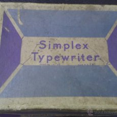 Juguetes antiguos de hojalata: SIMPLEX TIPERWRITER. Lote 47776049