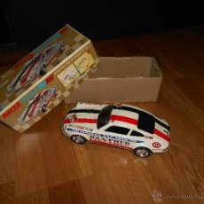 Juguetes antiguos de hojalata: COCHE PORSCHE 911RS TAIYO JAPONES FULL TIN BODY W/MYSTERY BUMP'N GO ACTION! PERFECT W/BOX! RARISIMO. Lote 49675502