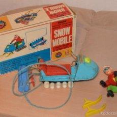 Juguetes antiguos de hojalata: VINTAGE - BANDAI - SNOW MOBILE - EN SU CAJA / BOXED - MADE IN JAPAN. Lote 56129240