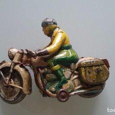 Juguetes antiguos de hojalata: MOTO TIPPCO MADE GERMANY AÑOS 50 FUNCIONA . Lote 85254180