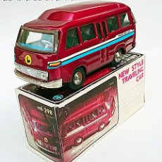 Juguetes antiguos de hojalata: MF 298 MICRO BUS NEW TRAVELING CAR - FRICCIÓN - HOJALATA TIN TOY. Lote 80485761