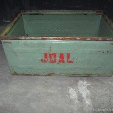 Juguetes antiguos Joal: CAJA METALICA ORIGINAL DE LA EMPRESA JUGUETERA JOAL. Lote 59968183