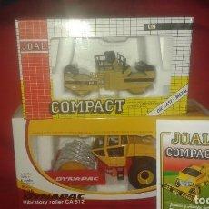 Juguetes antiguos Joal: JOAL , CATERPILLAR CB-534 VIBRATORY COMPACT + APISONADORA RODILLO ENTADO DYNAPAC+CATALOGO 1991. Lote 160635422