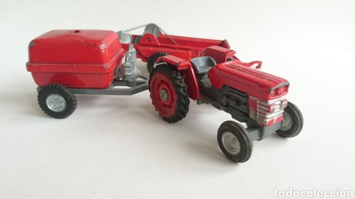 Juguetes antiguos Joal: Lote joal tractor Massey pulverizador 205 y remolque abono 204 - Foto 2 - 112688588