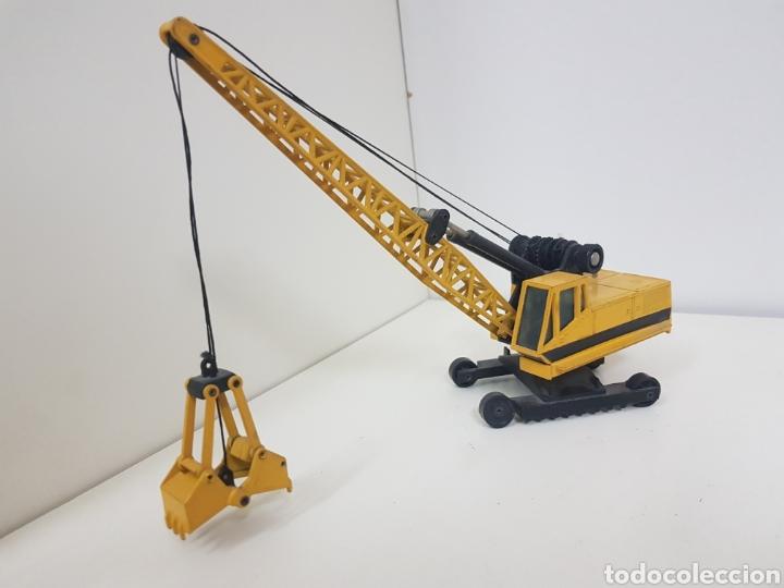 Juguetes antiguos Joal: Máquina de obra recogedora miniatura Joal amarilla medidas 24 x 6 cm - Foto 2 - 143962156