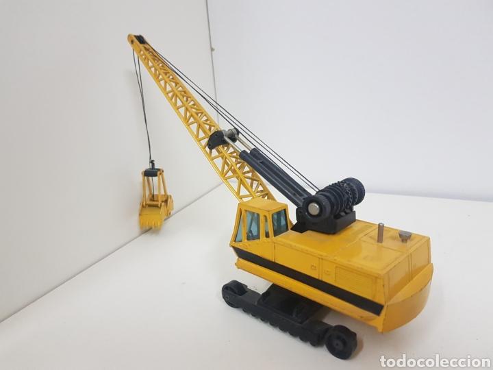 Juguetes antiguos Joal: Máquina de obra recogedora miniatura Joal amarilla medidas 24 x 6 cm - Foto 5 - 143962156