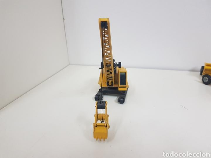 Juguetes antiguos Joal: Máquina de obra recogedora miniatura Joal amarilla medidas 24 x 6 cm - Foto 6 - 143962156