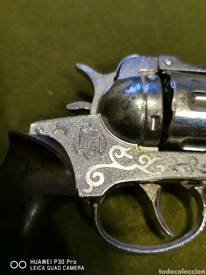 Juguetes antiguos Joal: Revolver de petardos joal - Foto 2 - 196101883
