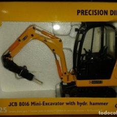 Juguetes antiguos Joal: JOAL,JCB 8016 MINI-EXCAVATOR WITH HYDR.HAMMER,ESCALA 1/25. Lote 206361632