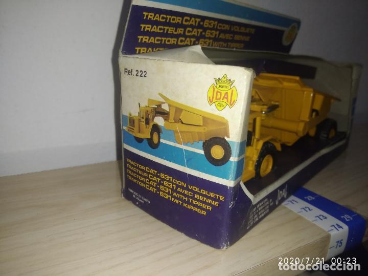 Juguetes antiguos Joal: TRACTOR CAT 631 CON VOLQUETE Caterpillar Años 70/80 nuevo en su caja made in Spain - Foto 5 - 212818665