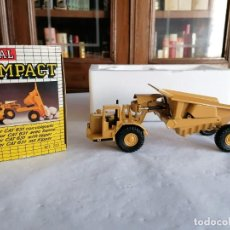 Juguetes antiguos Joal: JOAL COMPACT 1/70 222 TRACTOR CAT 631 CON VOLQUETE NUEVO OVP. Lote 235221765