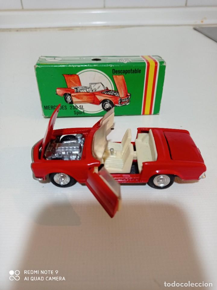 Juguetes antiguos Joal: Coche miniatura escala 1:43, Mercedes 230 SL rojo - Foto 2 - 248832390