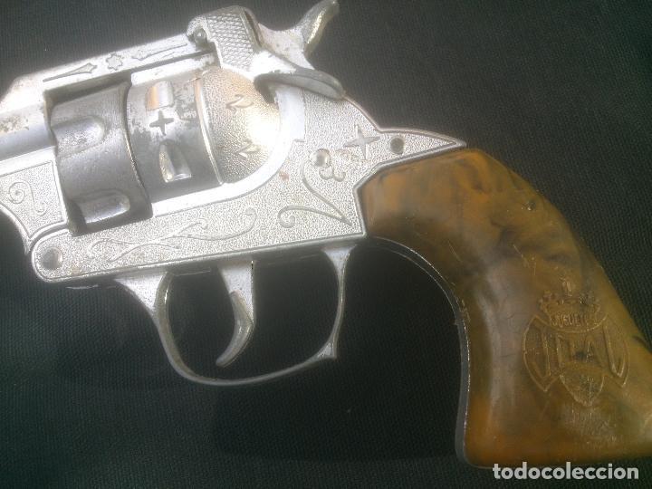 Juguetes antiguos Joal: Antiguo revolver 34 original de JOAL. Año 1950s.FULMINANTES,IMPECABLE. - Foto 2 - 270637563
