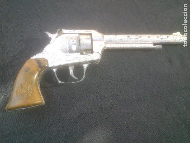 Juguetes antiguos Joal: Antiguo revolver 34 original de JOAL. Año 1950s.FULMINANTES,IMPECABLE. - Foto 3 - 270637563