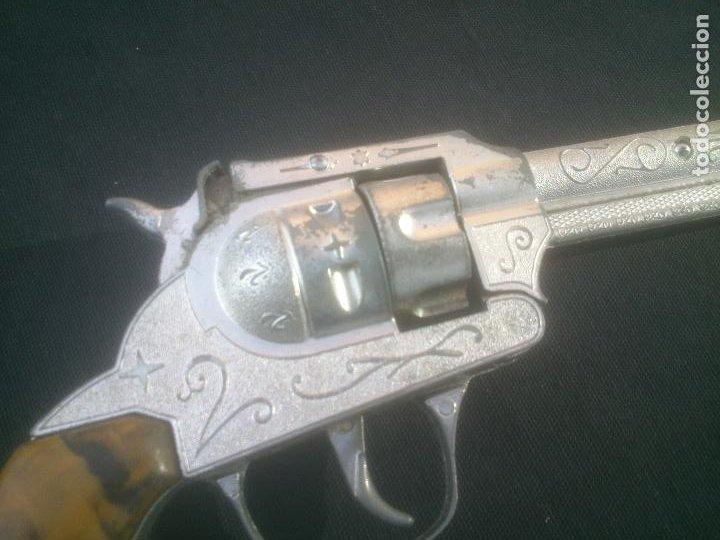 Juguetes antiguos Joal: Antiguo revolver 34 original de JOAL. Año 1950s.FULMINANTES,IMPECABLE. - Foto 4 - 270637563