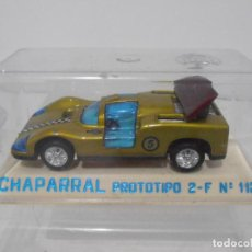 Juguetes antiguos Joal: COCHE A ESCALA, CHAPARRAL PROTOTIPO 2-F Nº113, URNA, MADE IN SPAIN. Lote 275667163