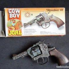 Juguetes antiguos Joal: JOAL COWBOY REVOLVER 44 EN CAJA. Lote 287097128
