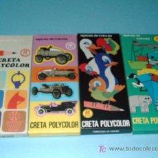 Juguetes antiguos y Juegos de colección: LOTE 4 CAJAS DE COLORES DE HISPANIA MODELO CRETA POLYCOLOR (GAMA COMPLETA). Lote 45733487