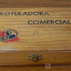 Juguetes antiguos y Juegos de colección: ROTULADORA COMERCIAL FLEX .. IMPRENTA JUGUETE. Lote 25751556