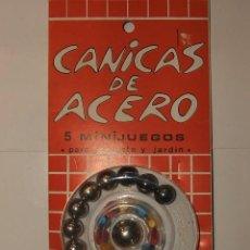 Juguetes antiguos y Juegos de colección: CANICAS DE ACERO. Lote 27520614