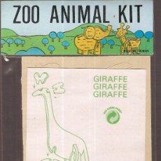 Juguetes antiguos y Juegos de colección: ZOO ANIMAL. 11 X 8 CM. MADERA TROQUELADA. GIRAFFE. Lote 6086300