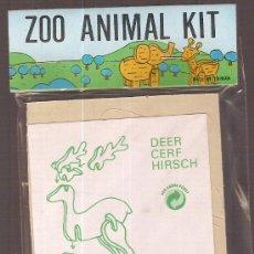 Juguetes antiguos y Juegos de colección: ZOO ANIMAL. 11 X 8 CM. MADERA TROQUELADA. DEER. Lote 6086303