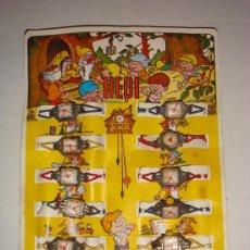 Juguetes antiguos y Juegos de colección: BLISTER ORIGINAL AÑOS 70 DE 12 RELOJES HEDI. Lote 26975108