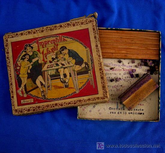 Juguetes antiguos y Juegos de colección: IMPRENTILLA INFANTIL. LOTE DE 2. IMPRENTA - Foto 2 - 16222357