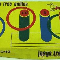 Juguetes antiguos y Juegos de colección: JUEGO TRES ANILLAS EN MADERA-JOC-DI- INCOMPLETO. Lote 23095007