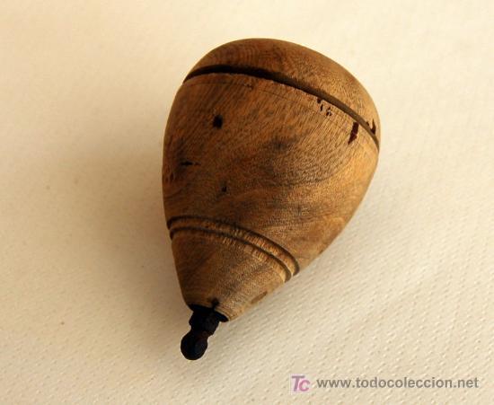 Antigua peonza de madera aproximadamente de lo comprar - Juguetes antiguos de madera ...