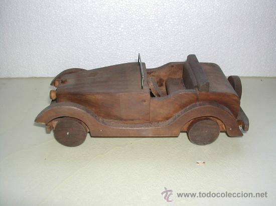 Coche de madera artesanal comprar en todocoleccion - Juguetes antiguos de madera ...