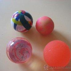 Juguetes antiguos y Juegos de colección: 4 PELOTAS DE GOMA SALTARINAS. Lote 106103170
