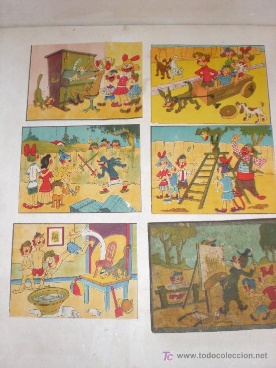 Juguetes antiguos y Juegos de colección: 6 laminas incluyendo la caja - Foto 2 - 14594002