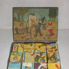 Juguetes antiguos y Juegos de colección: ROMPECABEZAS DE CUBOS DE CARTON. Lote 14594002